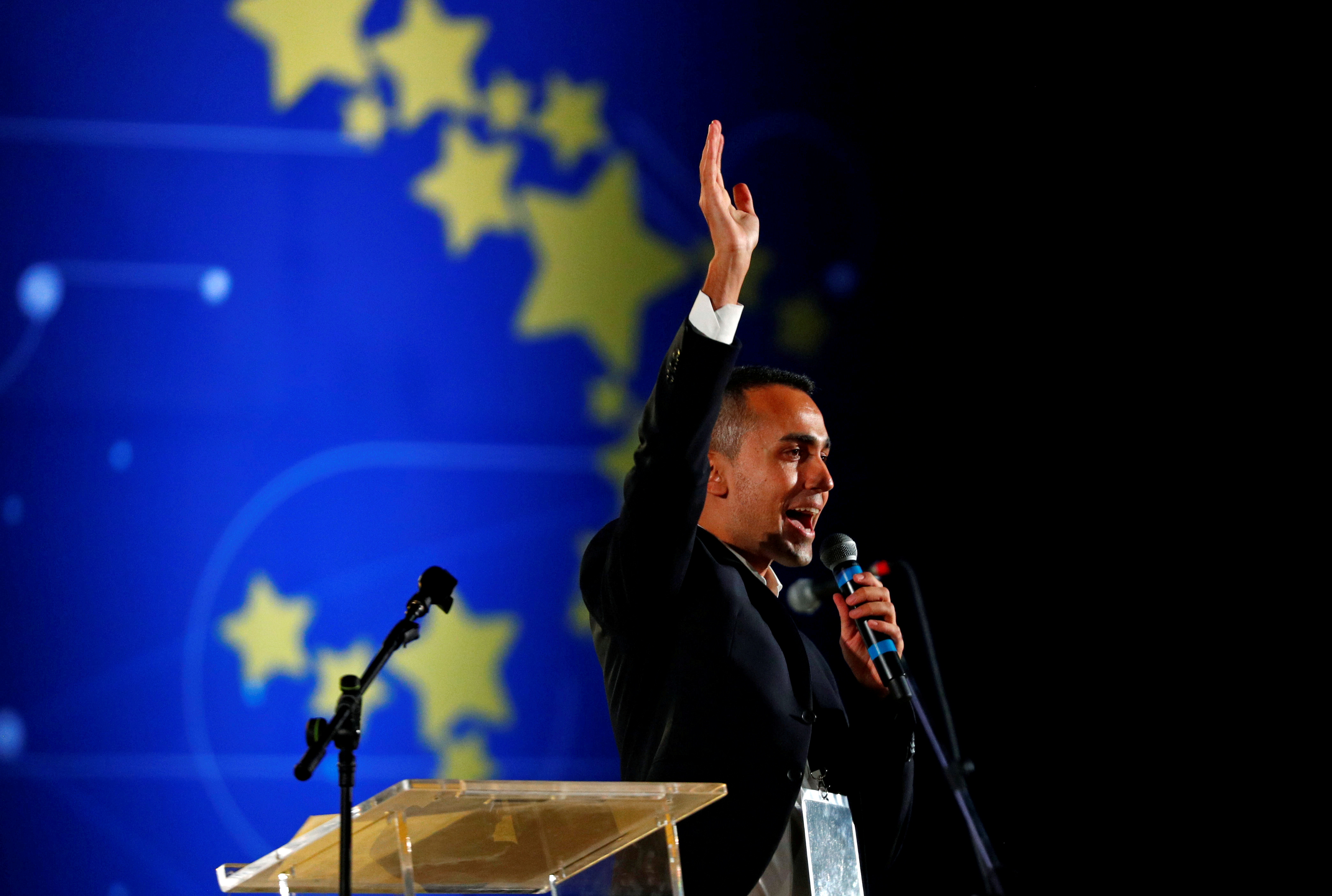 Italy's 5-Star Movement rally in Rome