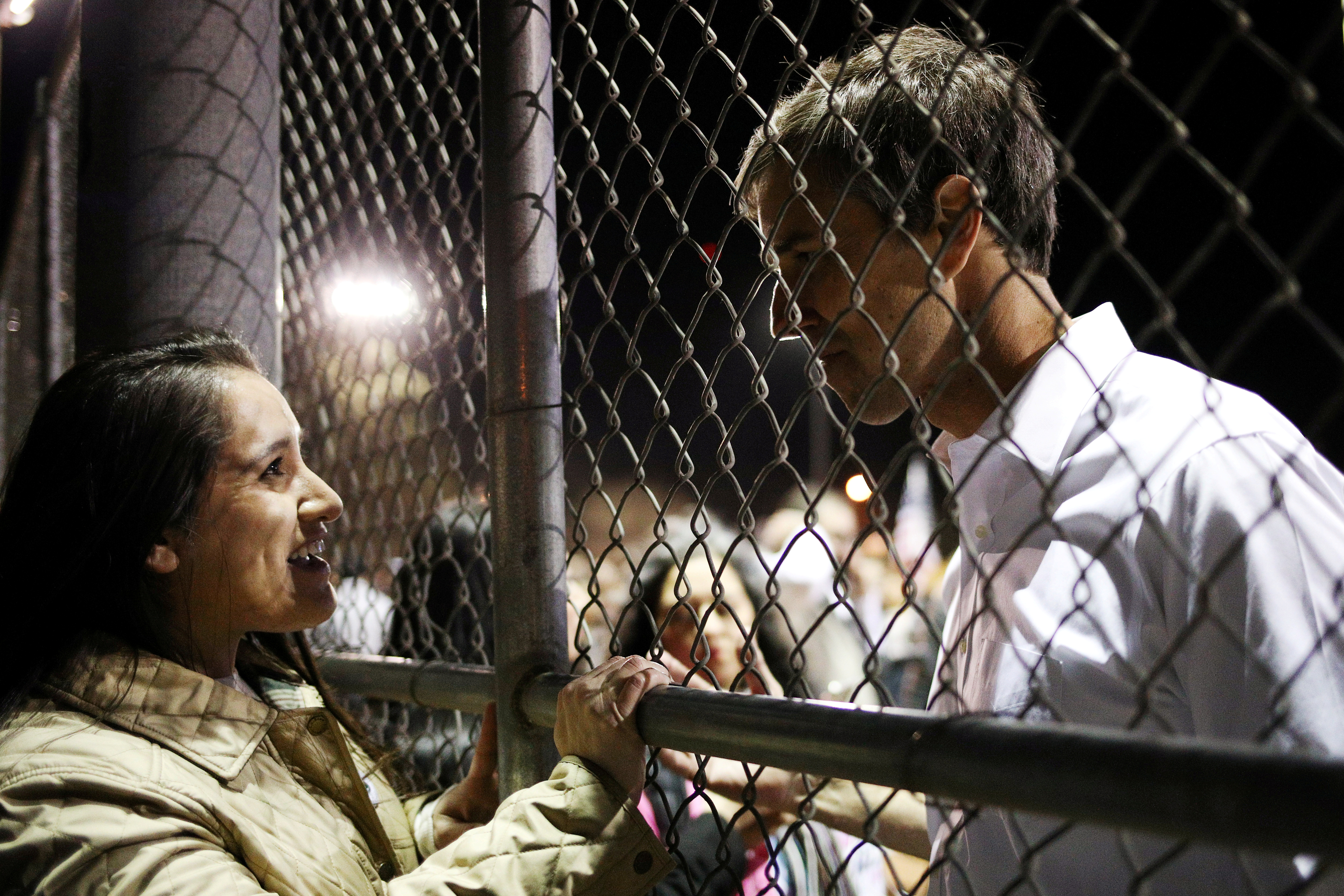Beto O'Rourke, the Democratic former Texas congressman, greets supporters following an anti-Trump march in El Paso, Texas, U.S., February 11, 2019.