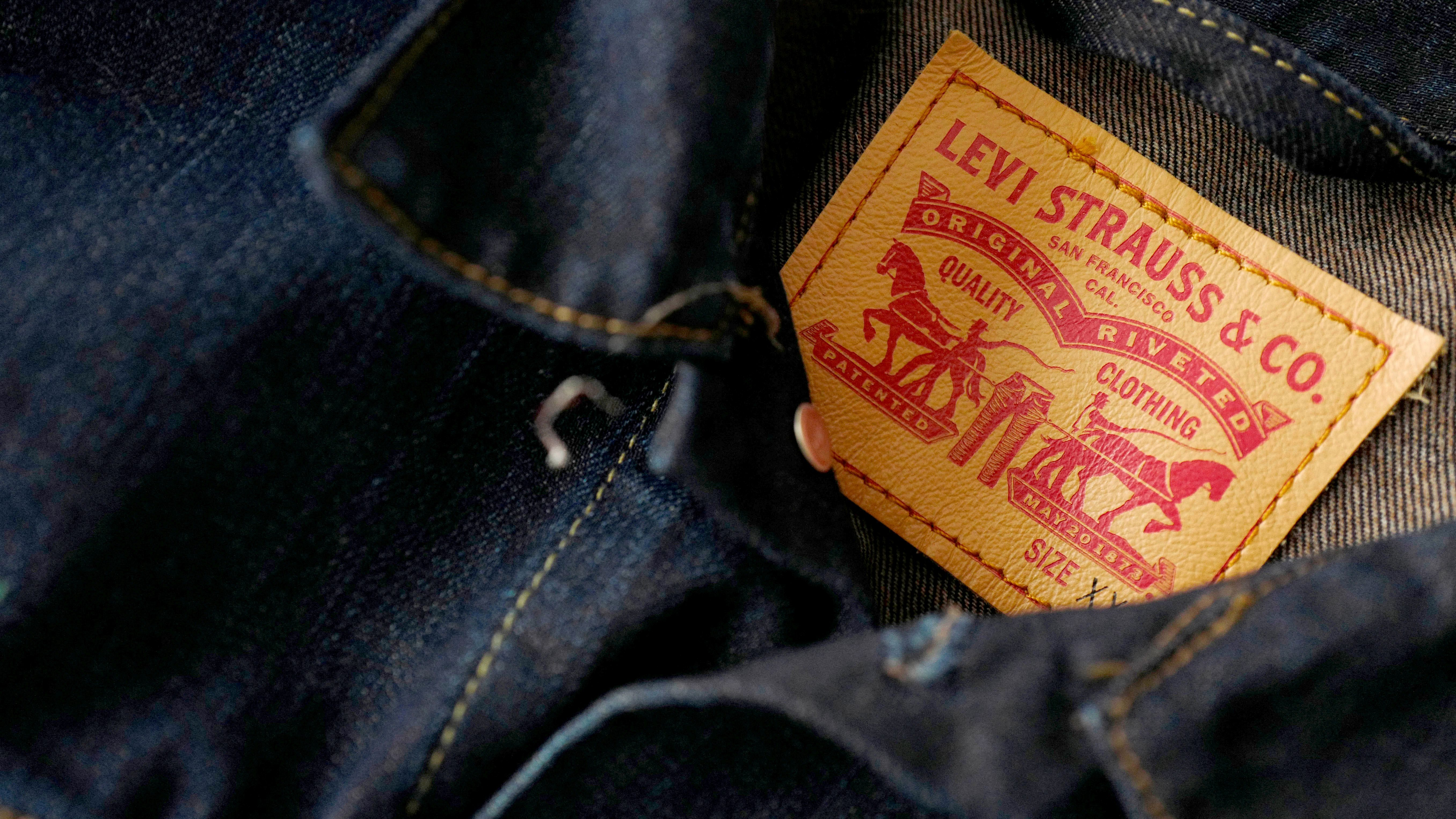 2619df7c7 FILE PHOTO  The label of a Levi s denim jacket of U.S. company Levi Strauss  is