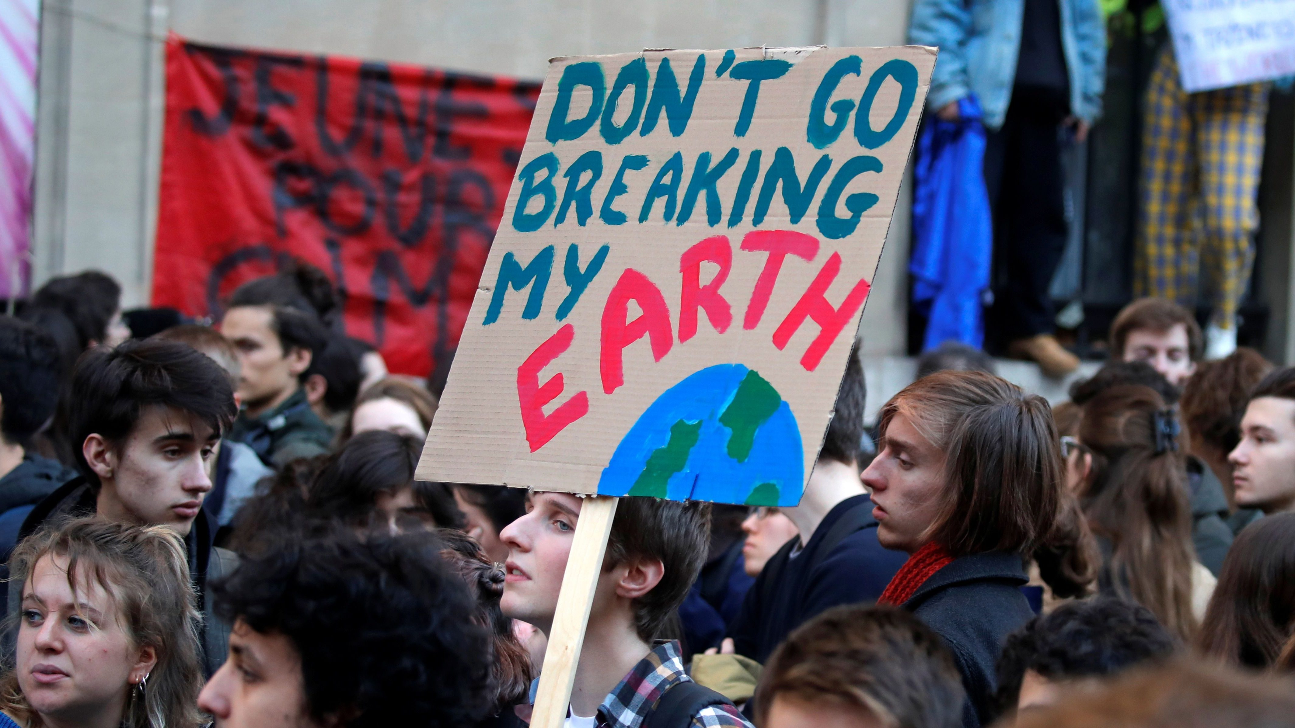 Youths demonstrate against climate change