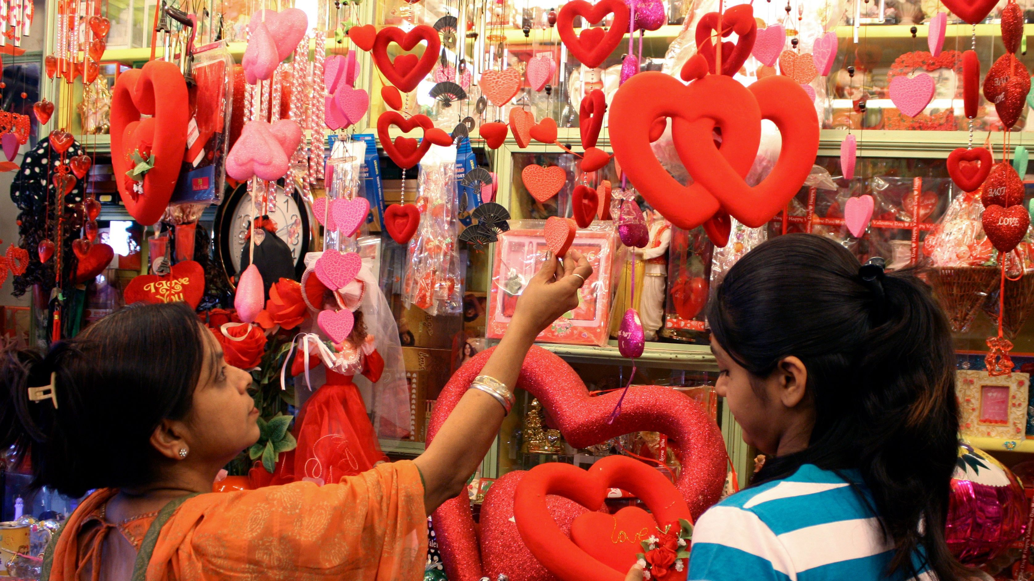 On Valentine's day, India's looking for love on Tinder, gifts on Amazon, and videos on Netflix