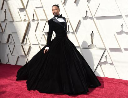 A man in a gown and women in pants won the Oscars red carpet