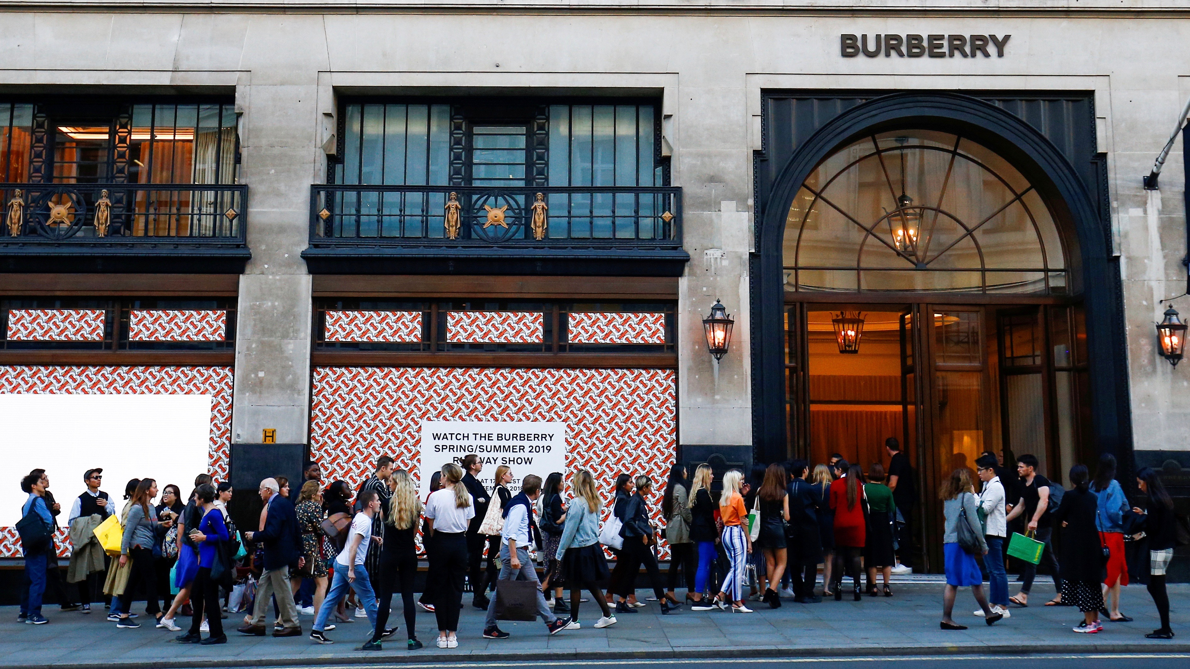 Burberry store, London.