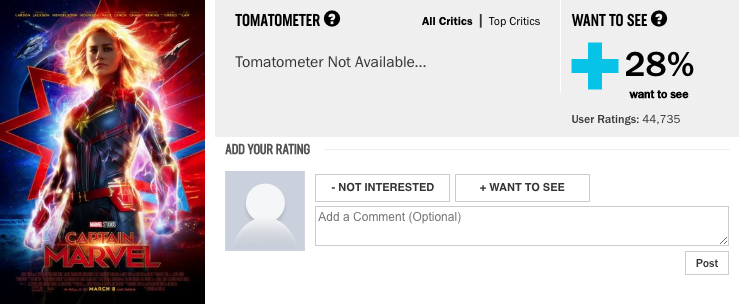 Rotten Tomatoes Tweaks Reviews After Captain Marvel Was Trolled Quartz
