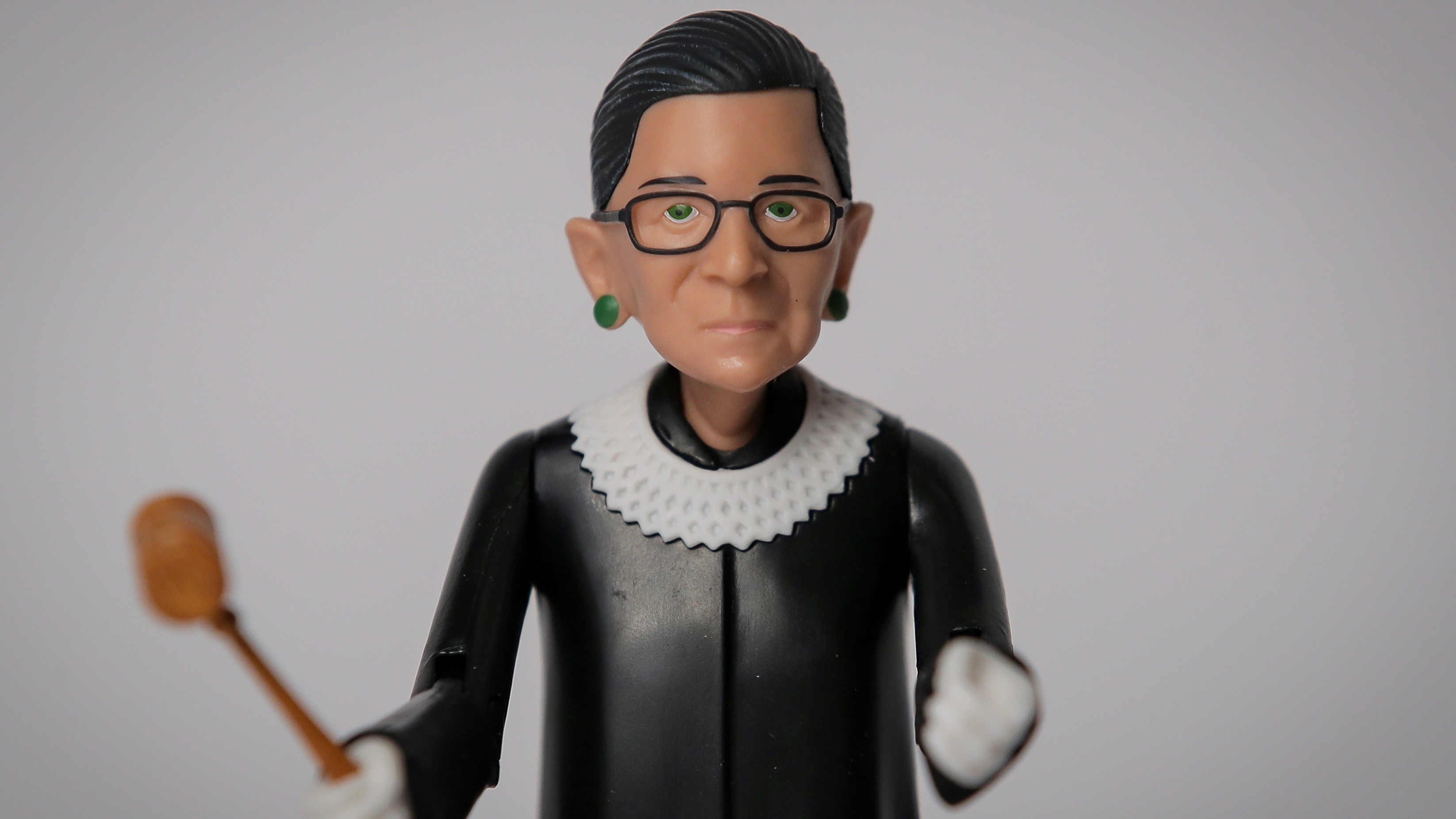 Justice Ruth Bader Ginsburg action figure.