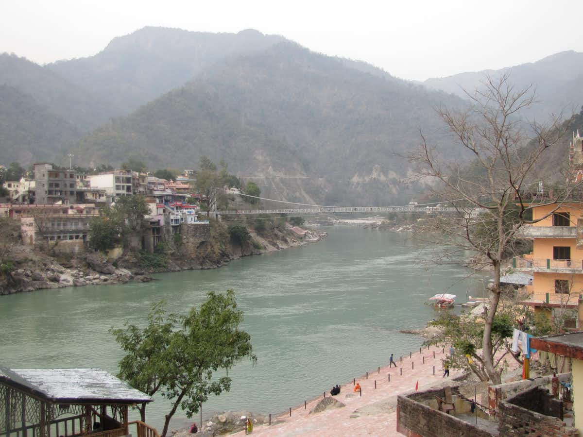 The Ganga River at Rishikesh, as it exits the Himalayas