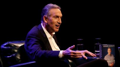 Former Starbucks CEO Howard Schultz speaks during his book tour in Seattle, Washington, U.S., January 31, 2019.
