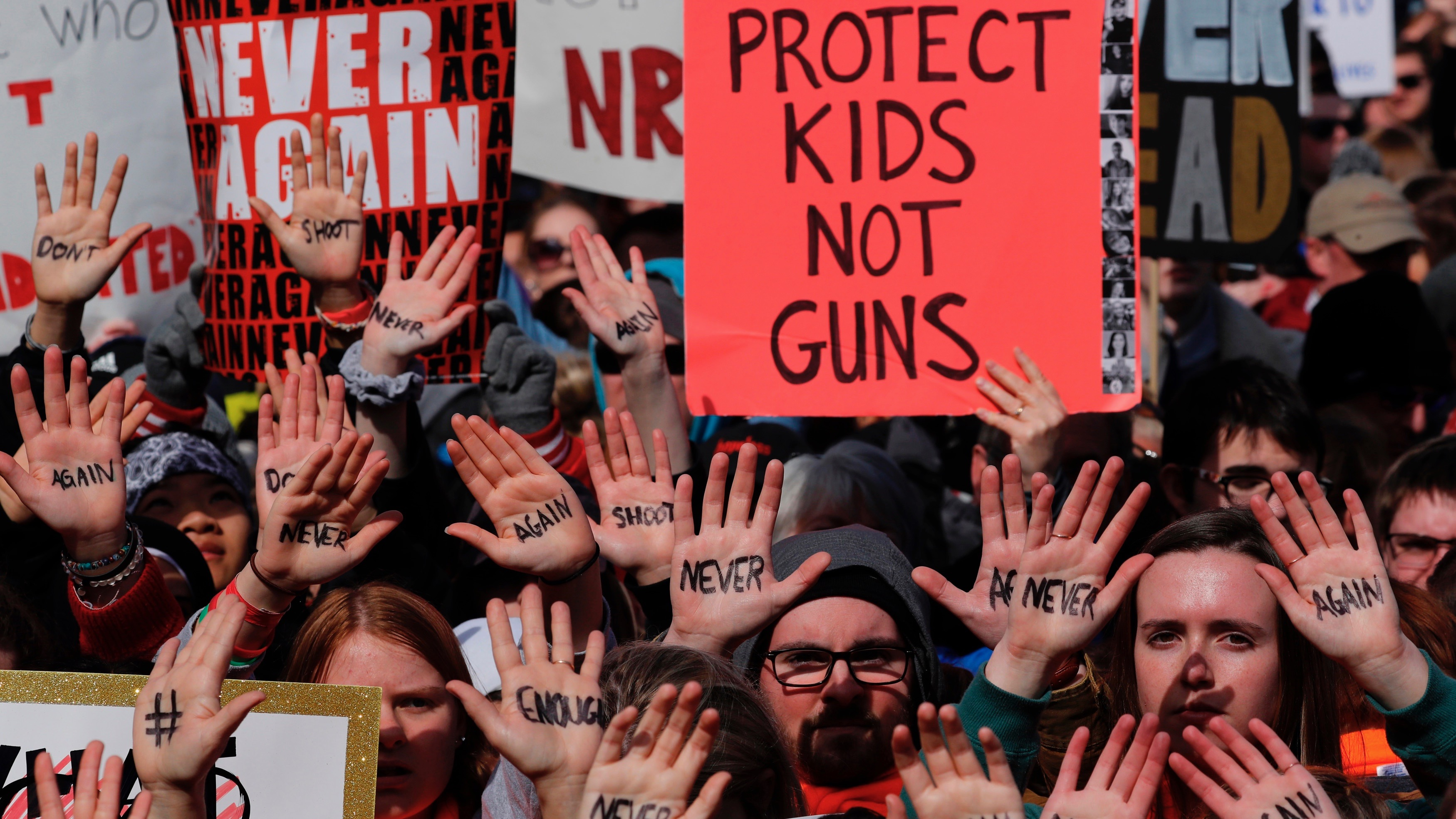 """March for Our Lives"" event demanding gun control in March 2018."