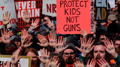 """""""March for Our Lives"""" event demanding gun control in March 2018."""
