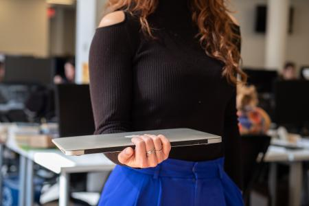 laptop holding positions—the waiter