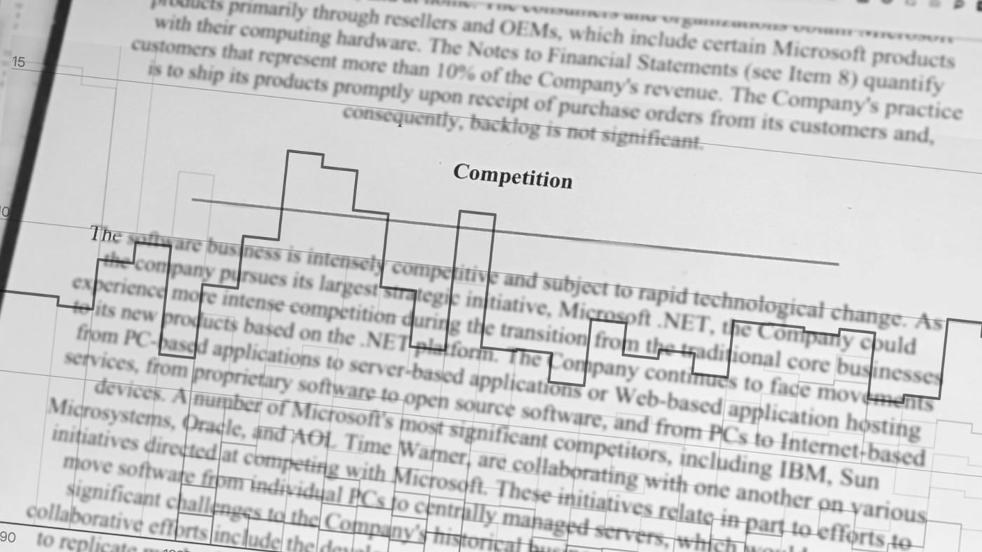 QnA VBage Thirty years of financial filings reveal Microsoft's biggest competitors