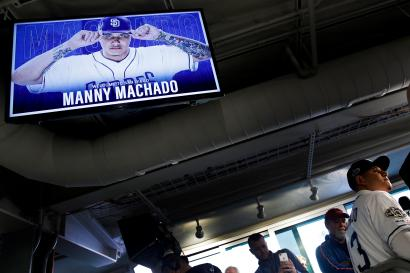 Manny Machado does a TV interview