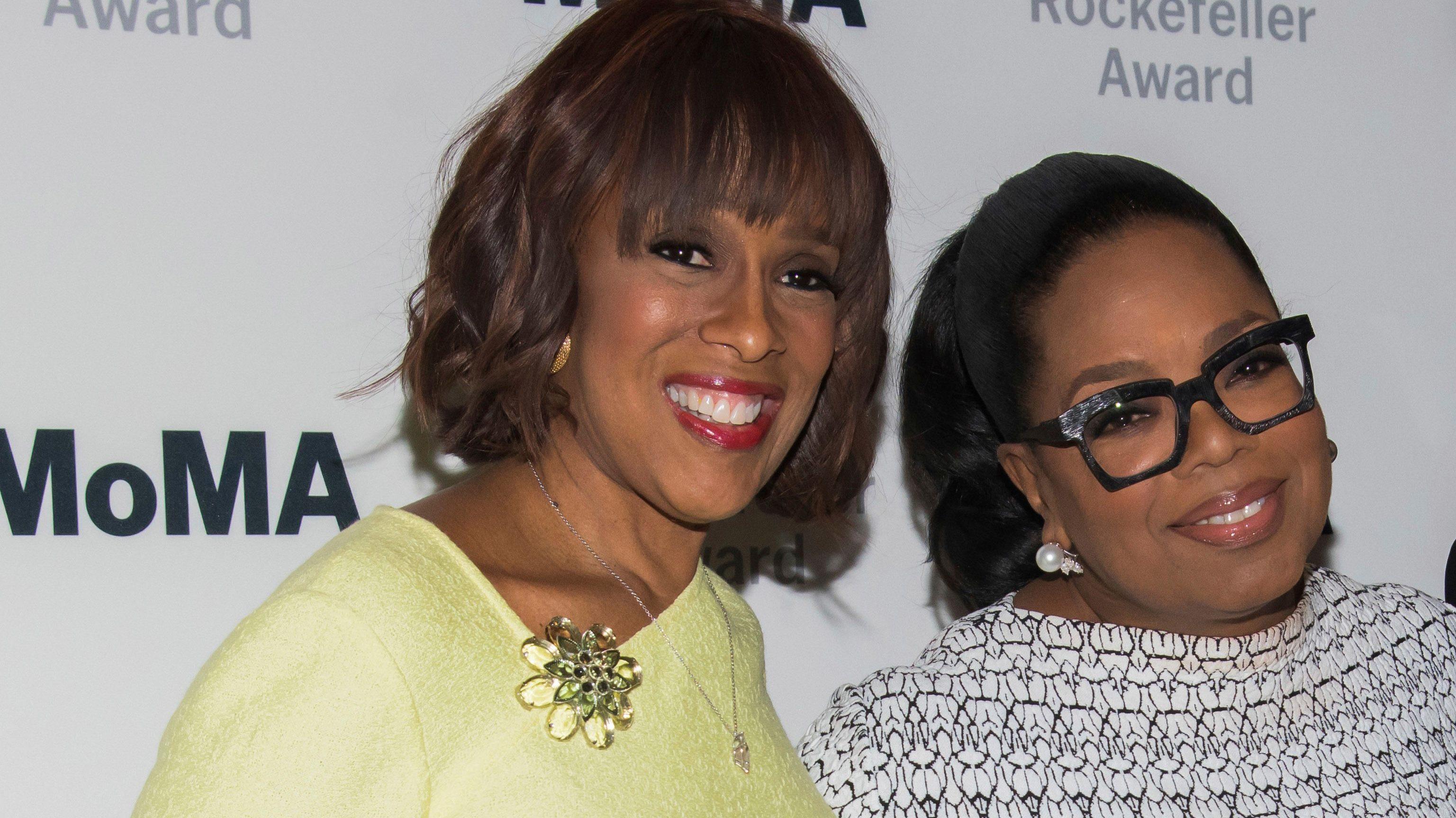 Gayle King, left, and Oprah Winfrey attend The Museum of Modern Art's David Rockefeller Award Luncheon honoring Oprah Winfrey at the Ziegfeld Ballroom on Tuesday, March 6, 2018, in New York.