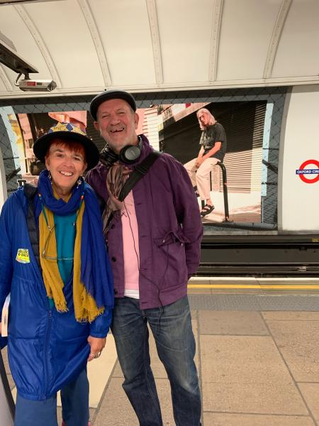Margot Turner and Martin Cottington at the Oxford Circus station.