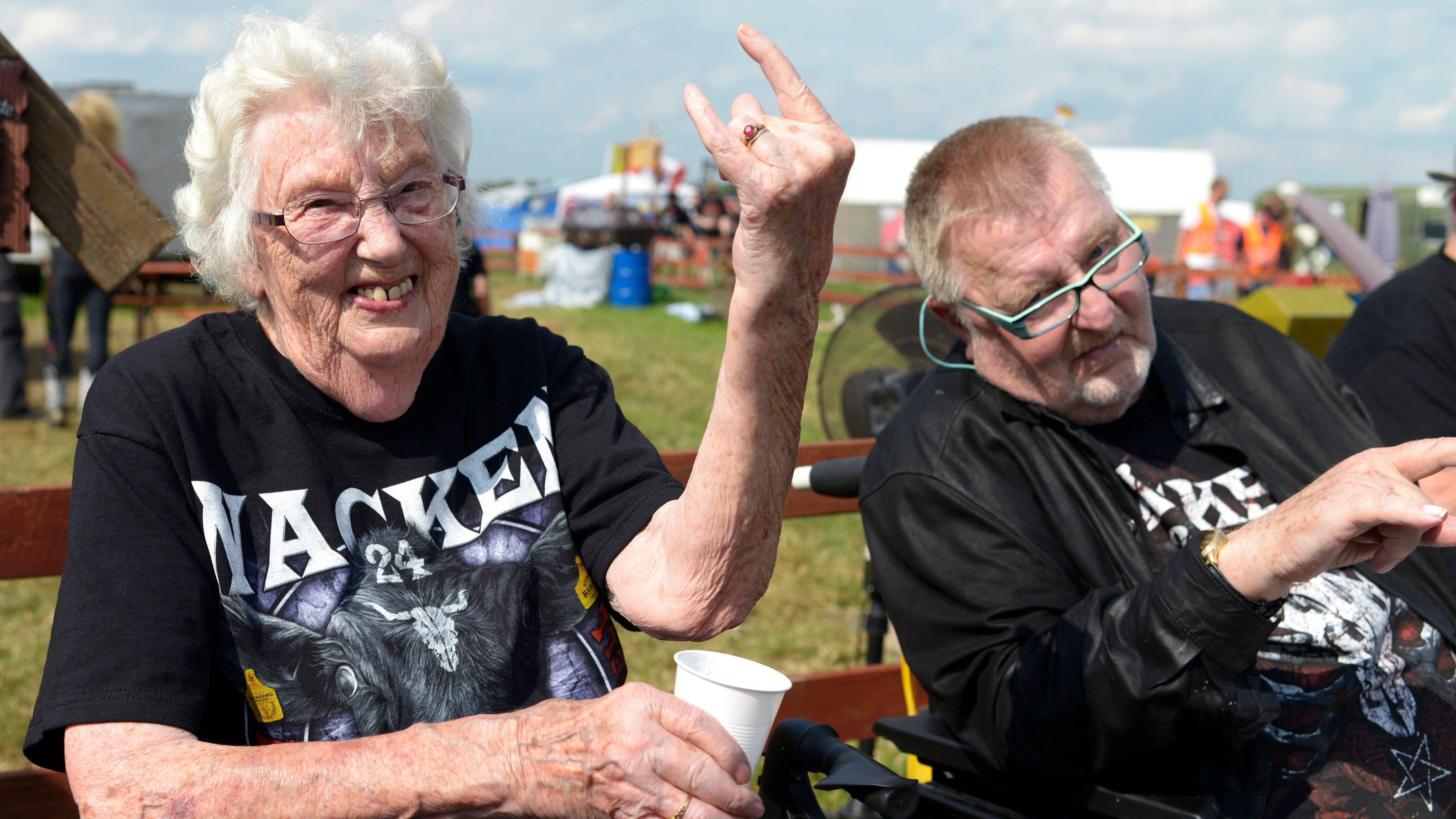 A 90-year-old heavy metal fan