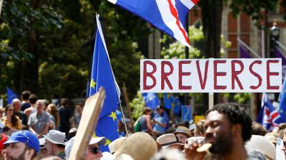 Brexit bashers rally in London.