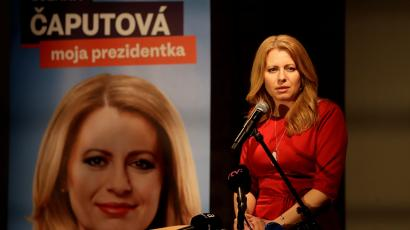 An environmental activist is now favored to become Slovakia s first female  president 56ec067c562