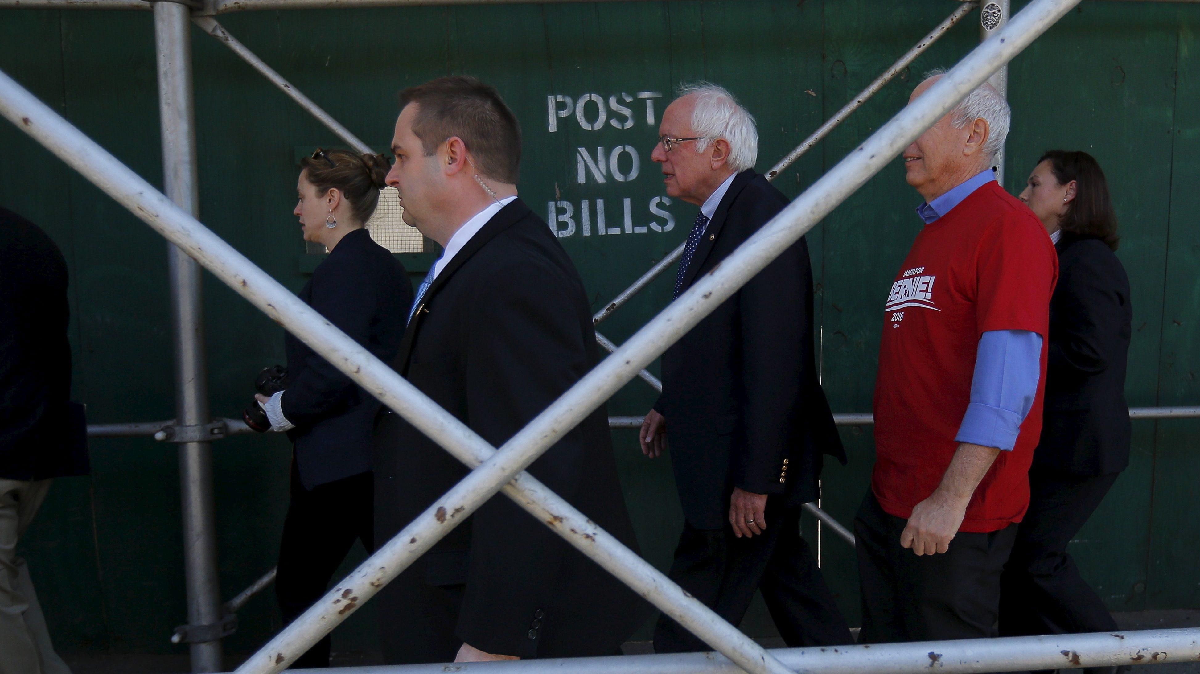 U.S. Democratic presidential candidate and U.S. Senator Bernie Sanders