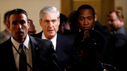 Special Counsel Robert Mueller departs after briefing members of the U.S. Senate on his investigation into potential collusion between Russia and the Trump campaign
