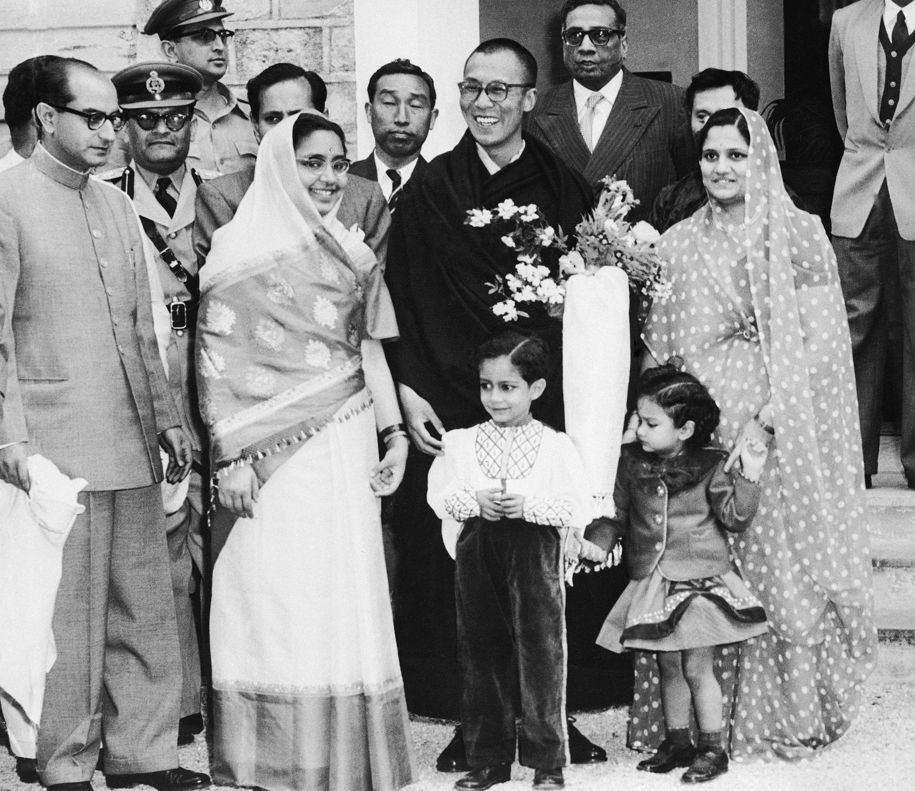 Dalai Lama And His Hosts