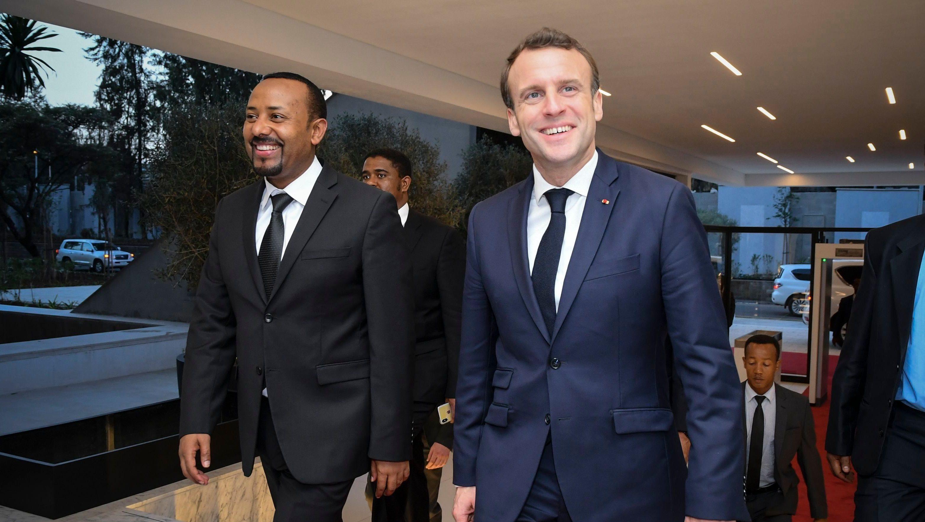 French President Emmanuel Macron visits Ethiopia, Addis Ababa - 12 Mar 2019