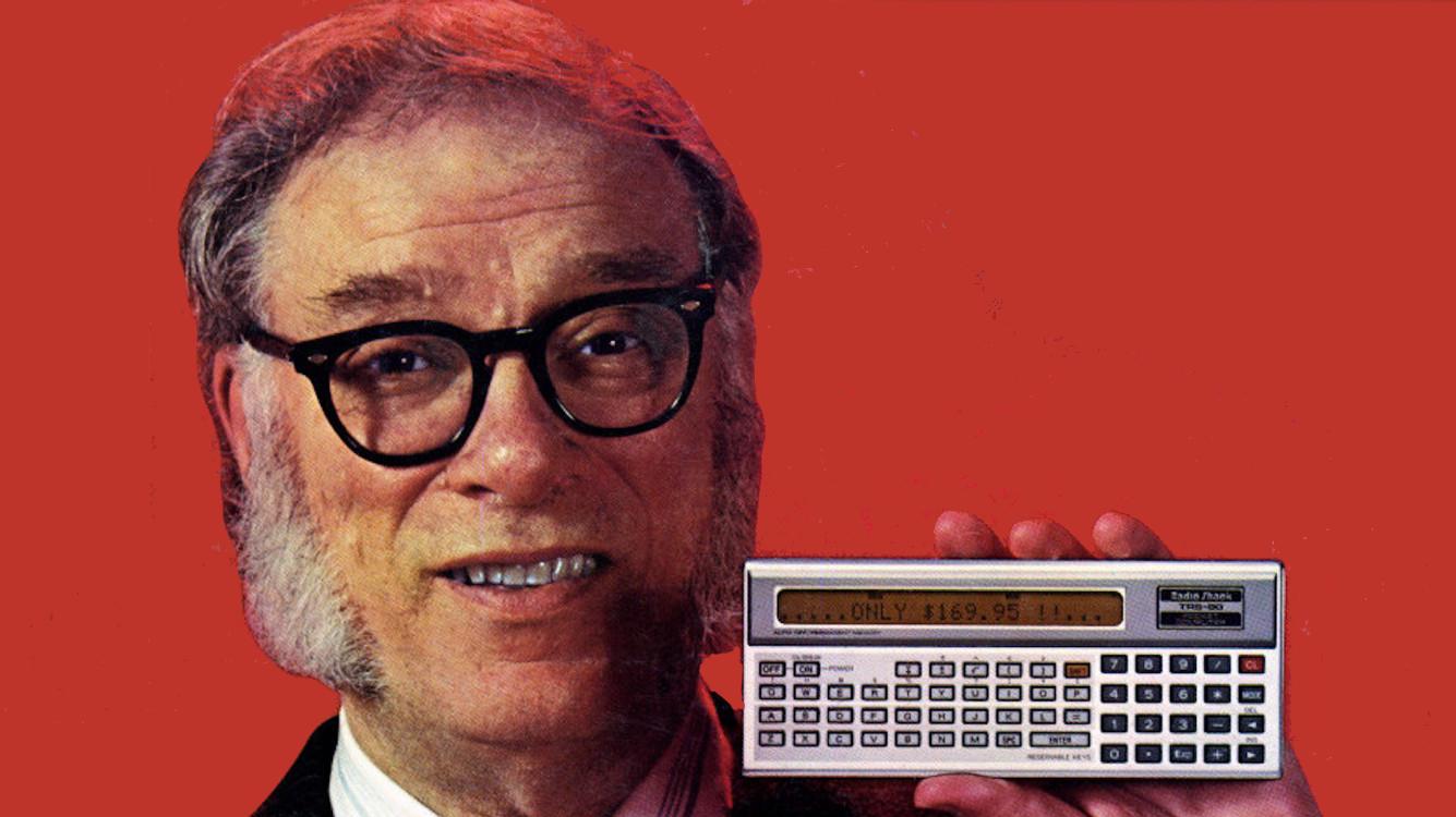Isaac Asimov endorsing Radioshack's TRS-80