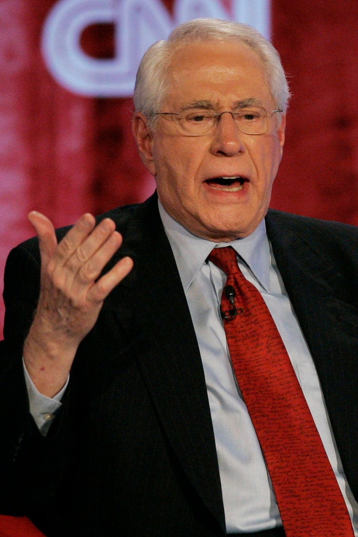 Former US Senator Mike Gravel during a Democratic presidential primary debate in 2007