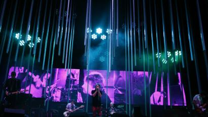 Thom Yorke and Radiohead perform at Liberty State Park