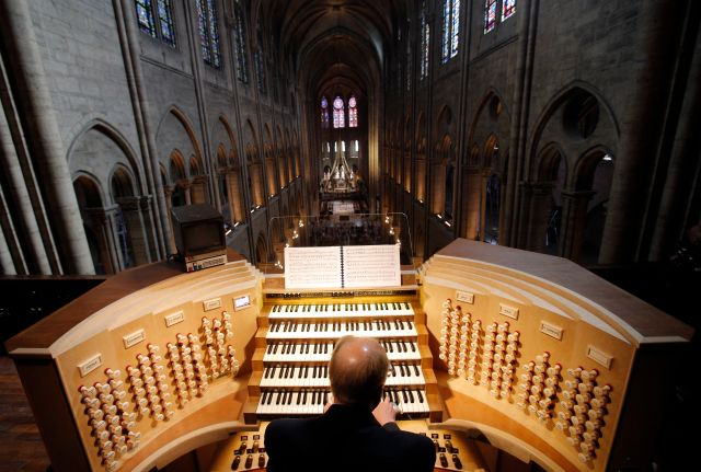 One of Notre Dame's grand organs