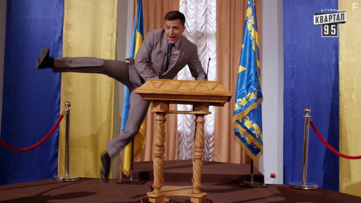 Volodymyr Zelensky plays the president of Ukraine on TV and, soon, in real life.