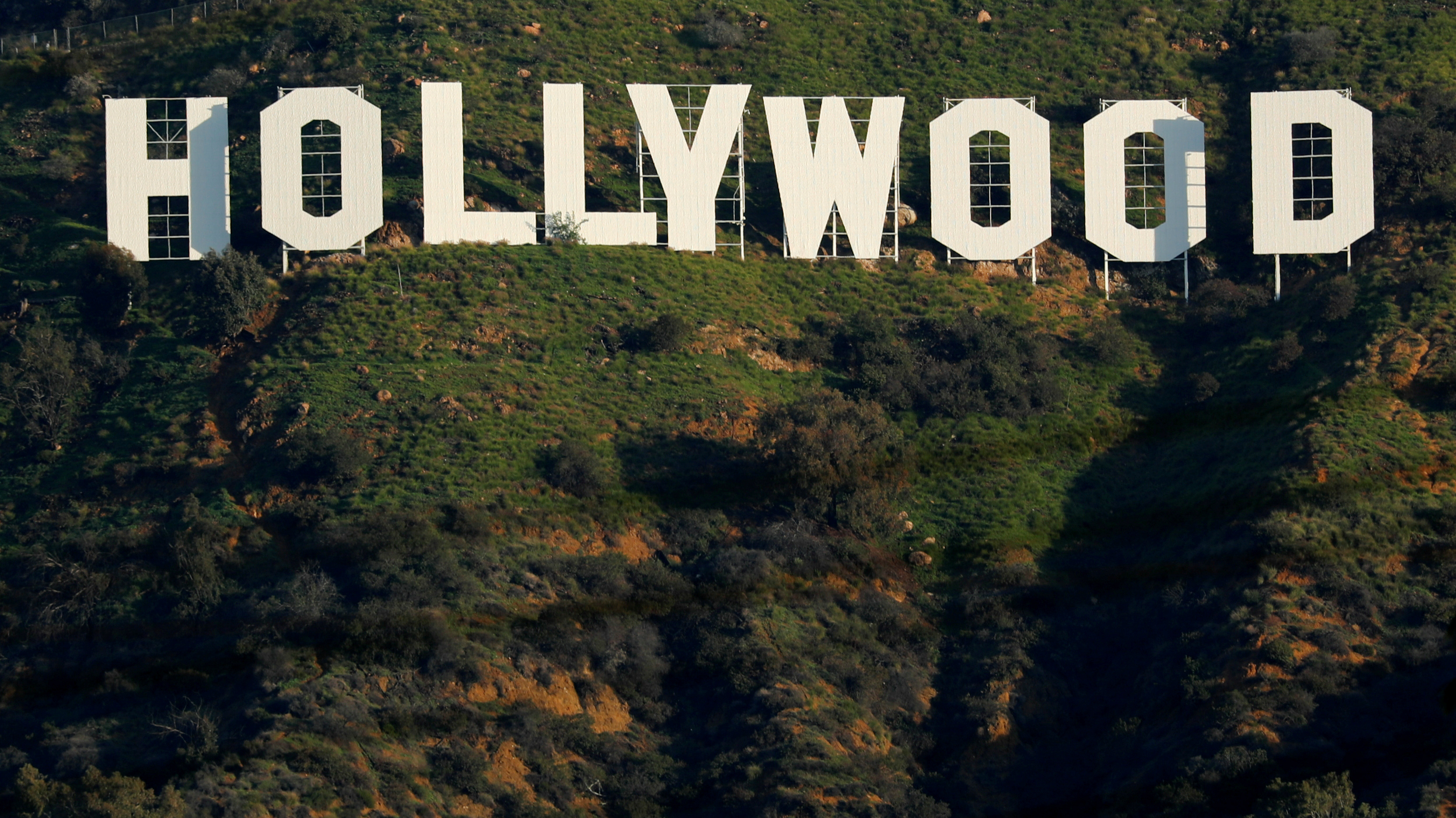 The Hollywood sign in California.