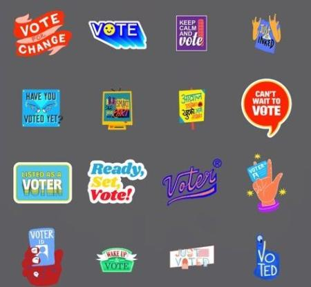 Snapchat's election stickers