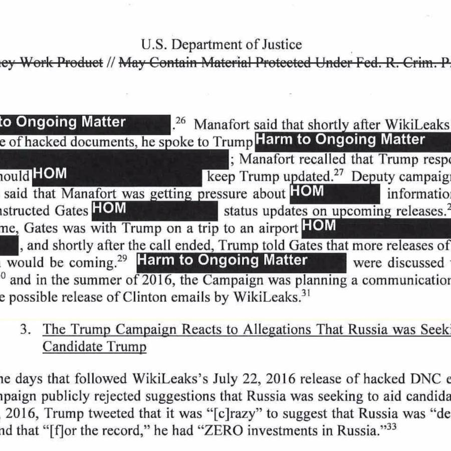The PDF of the Mueller report has been updated to be