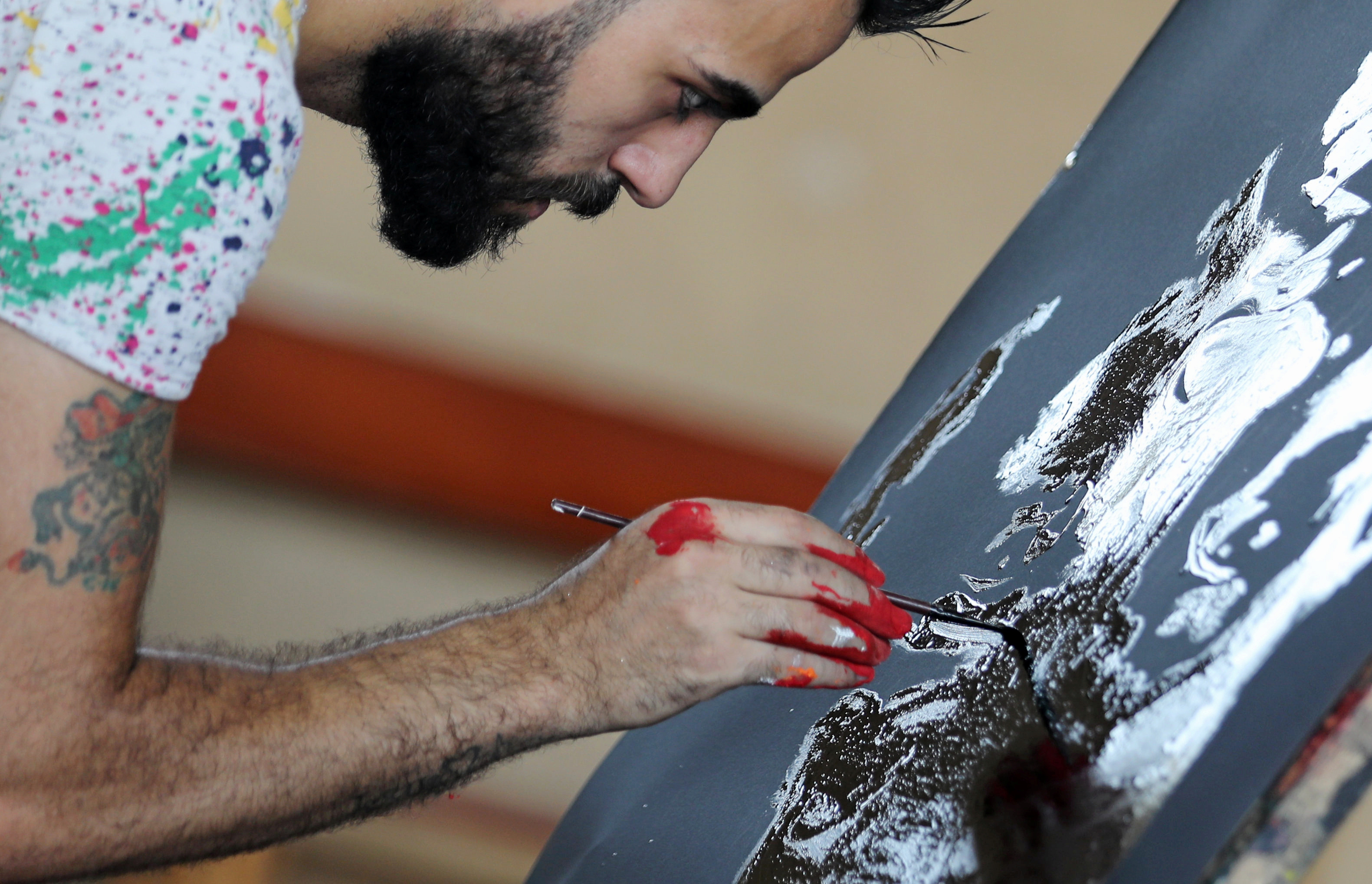 Egyptian speed painter Albert Magdy.