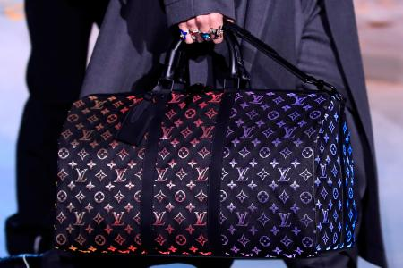 A model presents a bag creation by designer Virgil Abloh as part of his Fall/Winter 2019-2020 collection show for fashion house Louis Vuitton during Men's Fashion Week in Paris, France, January 17, 2019. REUTERS/Gonzalo Fuentes - RC1DEB618080