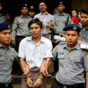 Detained Reuters journalists Kyaw Soe Oo and Wa Lone