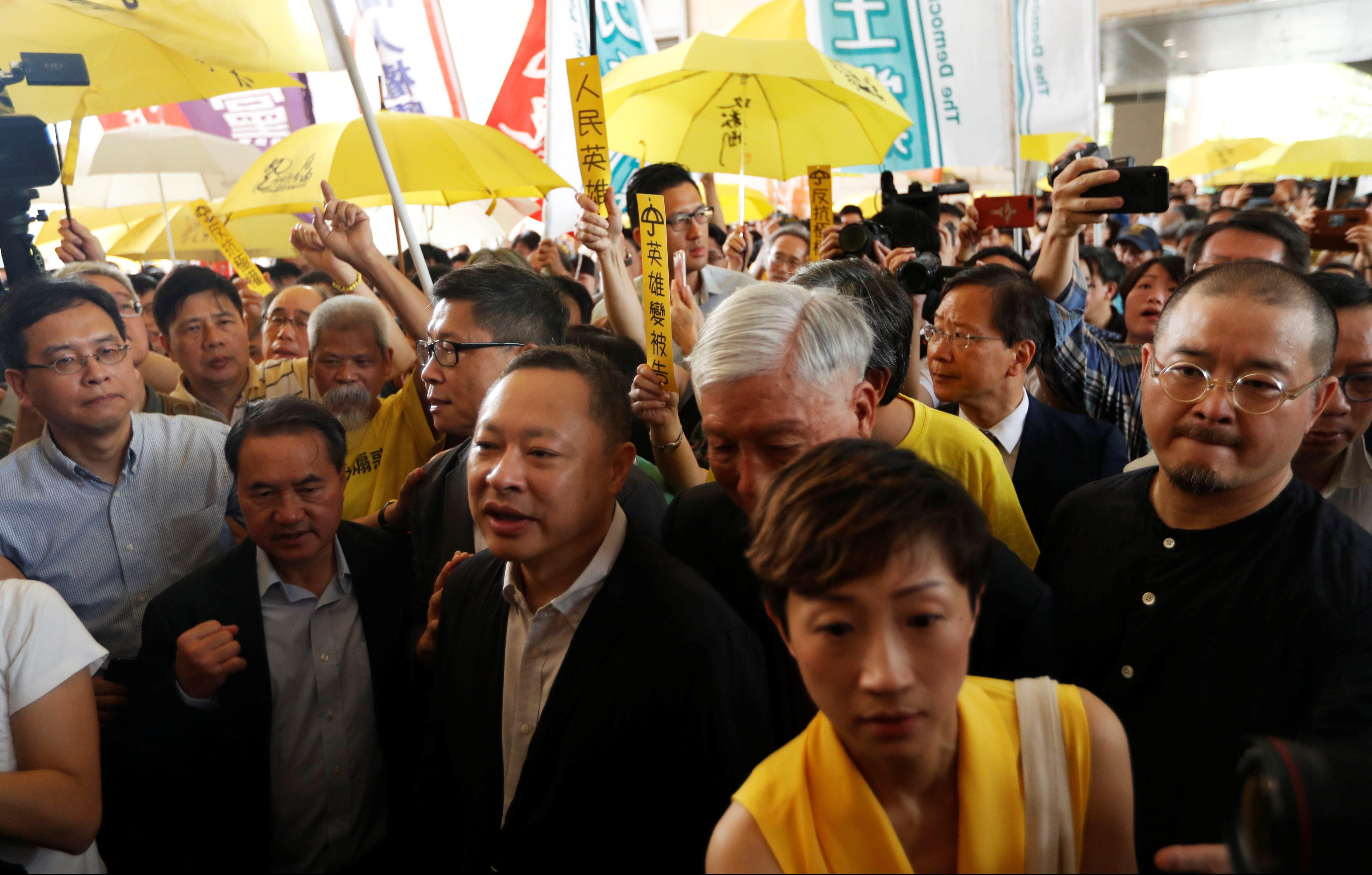 "Hong Kong is sending its ""Umbrella 9"" democracy leaders to prison"