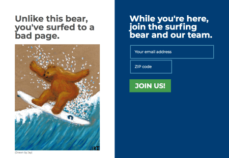 Jay Inslee 404 page