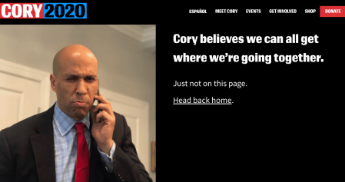 Cory Booker 404