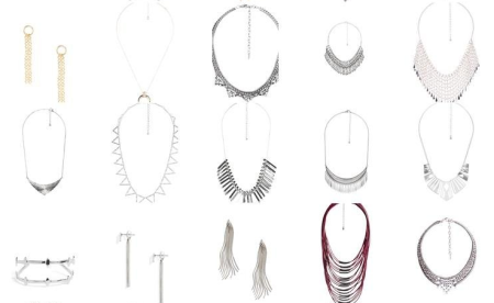 Examples of necklaces and earrings from Stitch Fix's Style Shuffle.