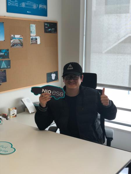 Sun E in William Li's office in early 2018.