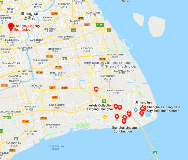 Lingang area is in the southeastern Shanghai.