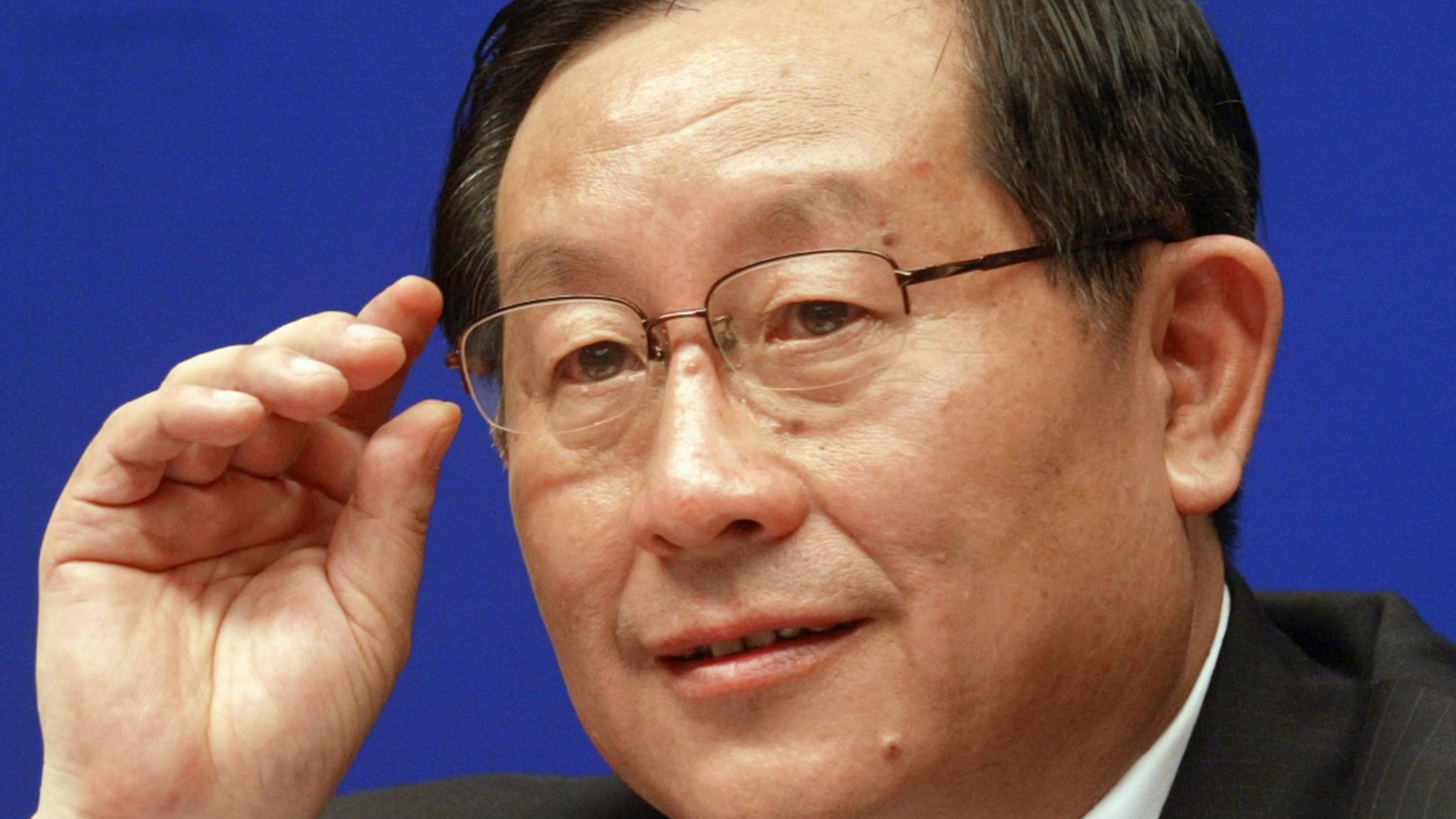 Wan Gang, China's minister of science and technology, gestures during a news conference on China's Scientific Actions on Climate Change in Beijing June 14, 2007. REUTERS/China Daily (CHINA)