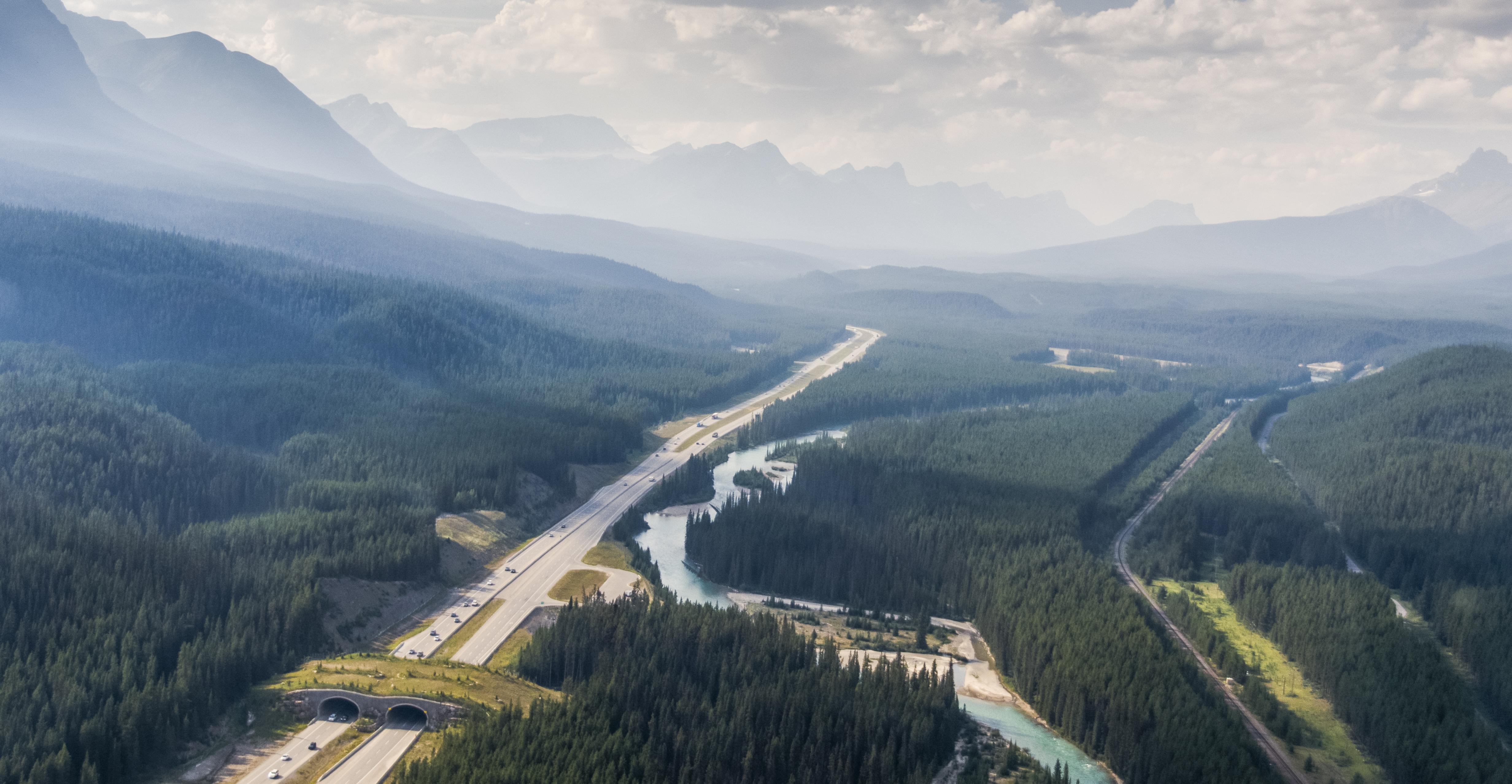 Wildlife overpass, Banff, Canada, Transcanada Highway