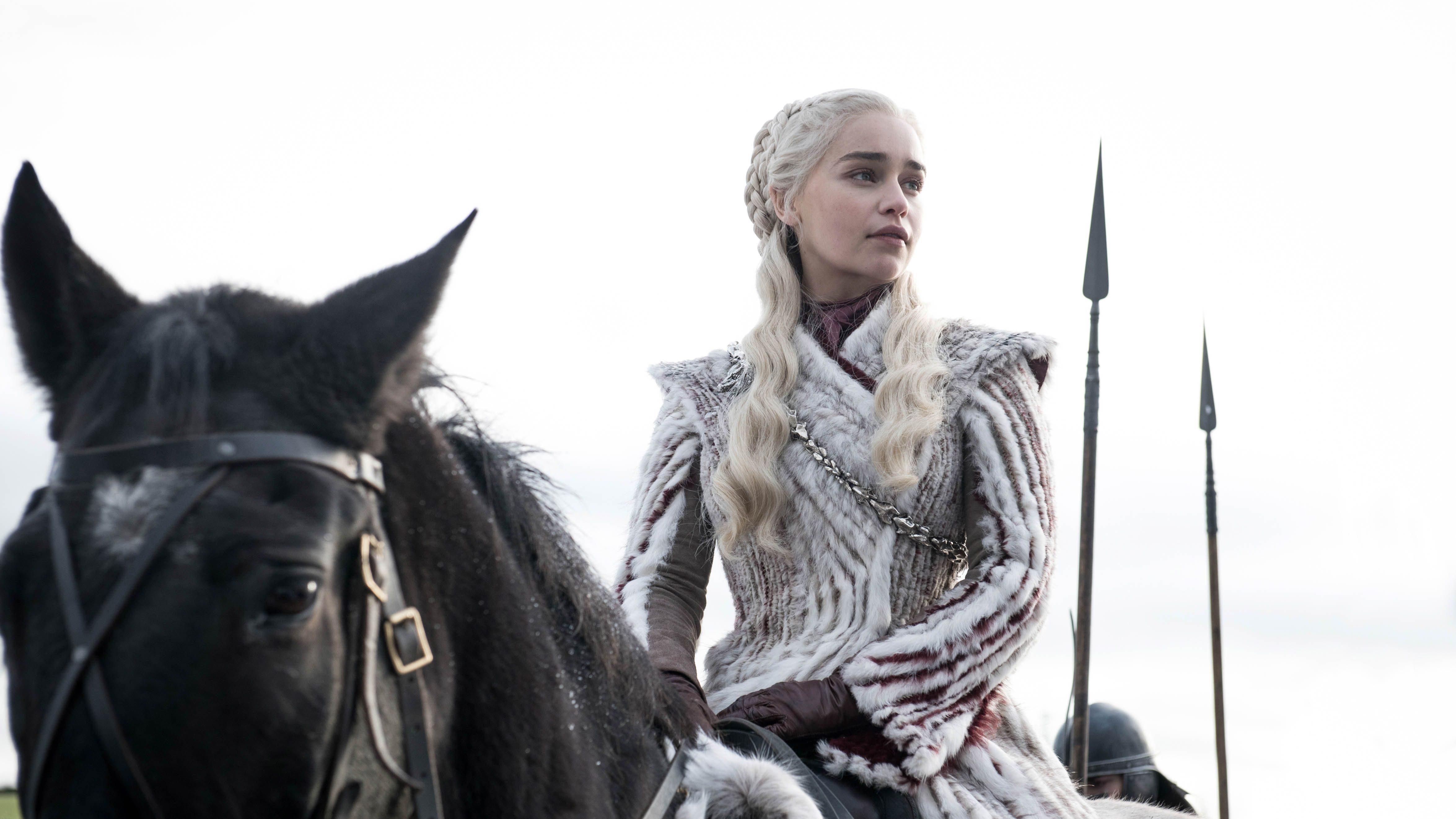 Emilia Clarke in Game of Thrones season 8