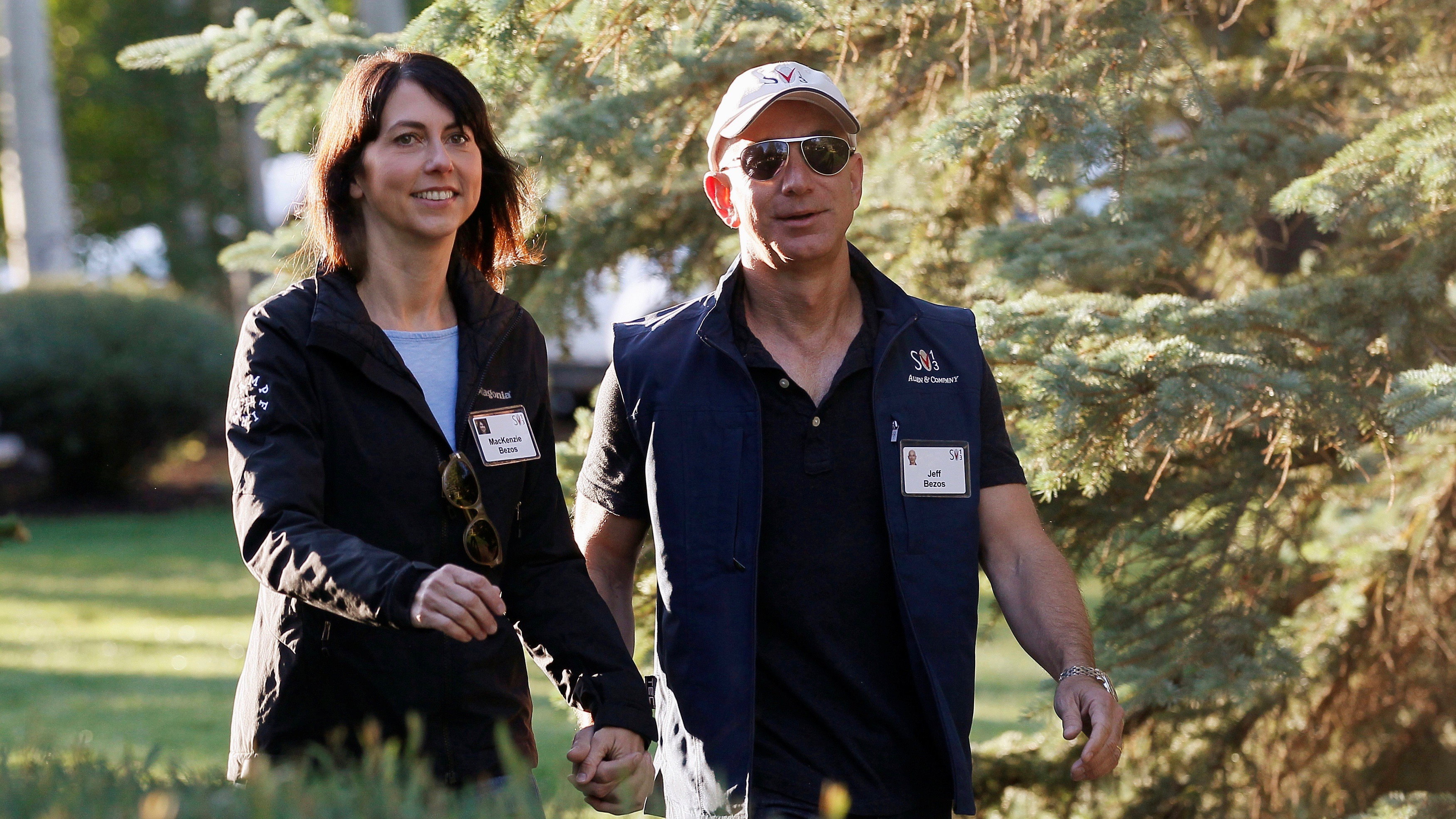 Jeff and Mackenzie Bezos .