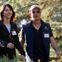 Jeff and Mackenzie Bezos .