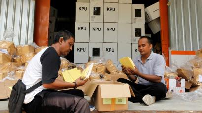 Indonesia Election ballot counters