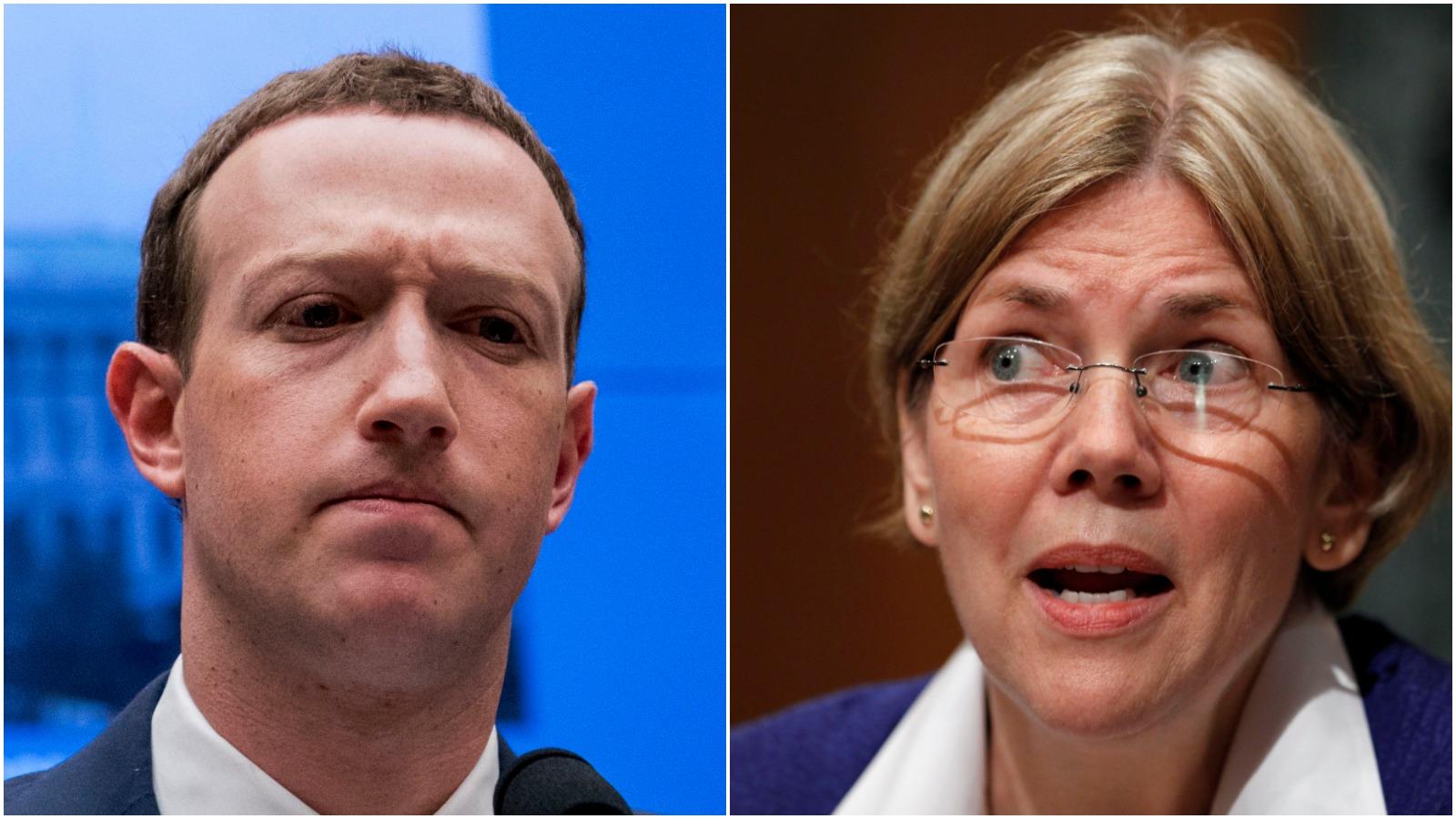 mark zuckerberg and elizabeth warren