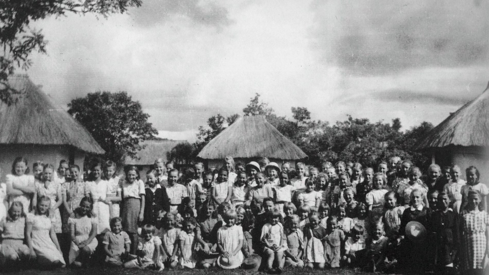 Polish children in Tengeru, Tanzania in 1946.